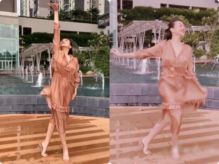 Bài học xương máu khi mặc váy lụa: Midu, hotgirl Trâm Anh bị hằn rõ 'vùng cấm địa' kém duyên - Ảnh 1
