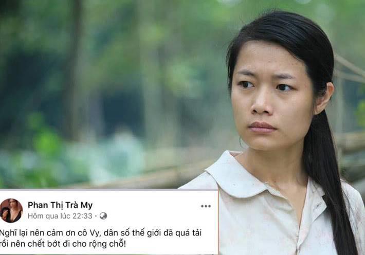 Diễn viên Trà My bị chỉ trích dữ dội vì 'cảm ơn Cô Vy để dân số chết bớt' - Ảnh 1