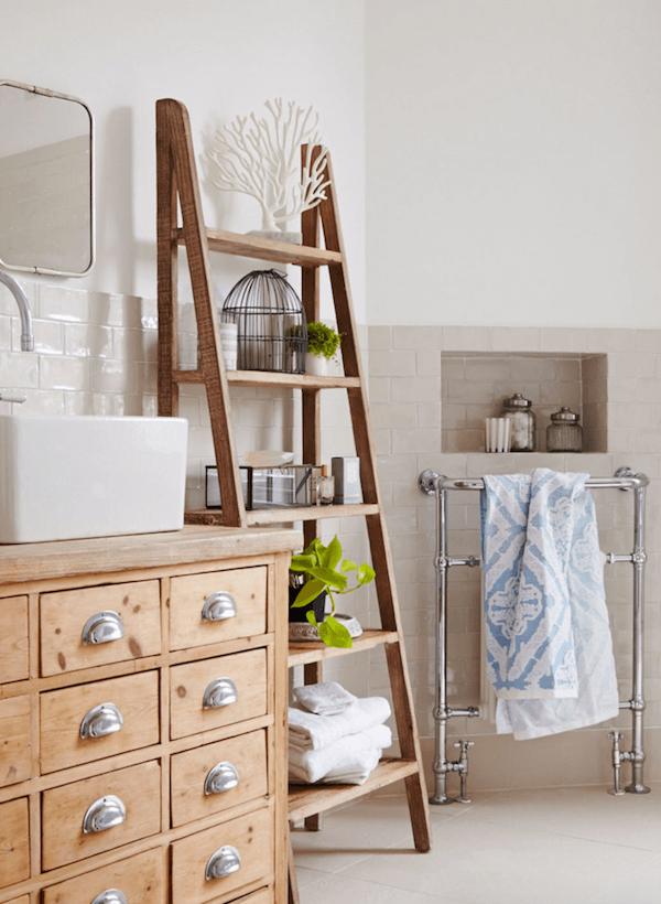 Biến tấu nội thất tronng nhà bằng cách dùng thang để trang trí - Ảnh 2
