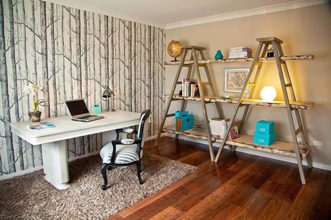 Biến tấu nội thất tronng nhà bằng cách dùng thang để trang trí - Ảnh 8