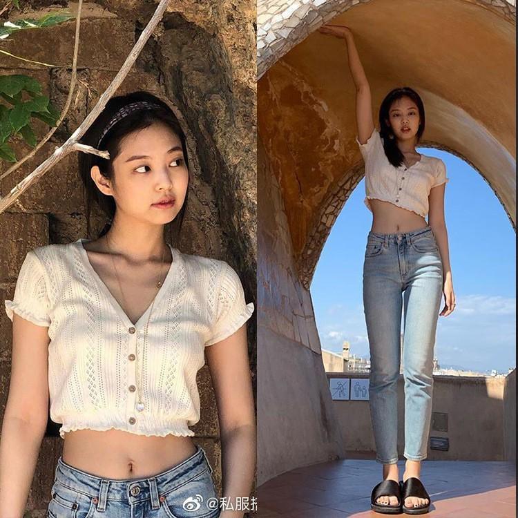Nhìn Jennie (BlackPink) phối đồ với quần jean đẹp sang thế này, ai nghĩ được cô nàng lại là 1 'nấm lùn' chính hiệu - Ảnh 3