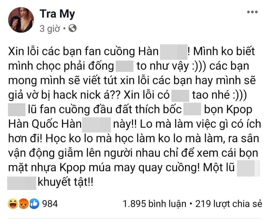 Loạt phát ngôn bị đánh giá vô cảm của diễn viên Trà My trước khi 'cảm ơn cô Vy giúp dân chết bớt' - Ảnh 3