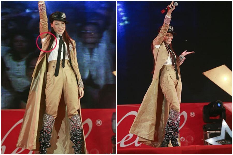 Gặp sự cố trang phục, loạt mỹ nhân làng giải trí rách đồ ngay chỗ hiểm trên sân khấu - Ảnh 3