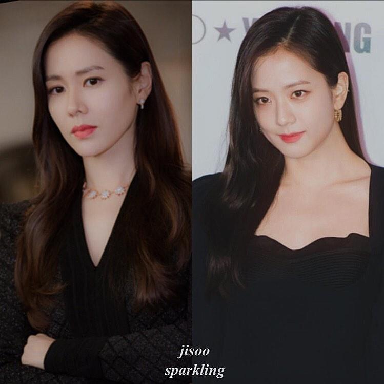Top 3 cặp idol - diễn viên có gương mặt giống nhau: Không phải chị em ruột nhưng Jisoo (BLACKPINK) bất ngờ giống Son Ye Jin như đúc - Ảnh 1