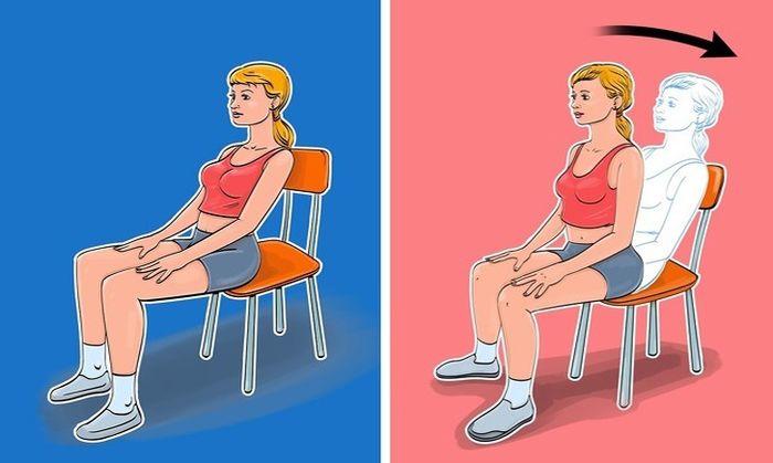 'Ngồi một chỗ' vẫn giúp mỡ bụng giảm 'ào ào' bằng 7 bài tập với ghế - Ảnh 2