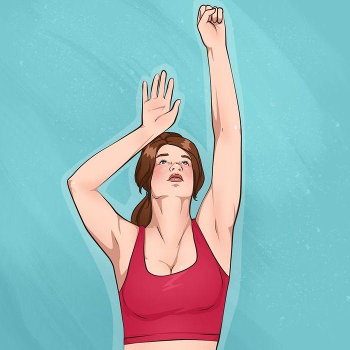 Tăng kích cỡ vòng 1 với 10 động tác đơn giản: vươn tay, giữ gối - Ảnh 2