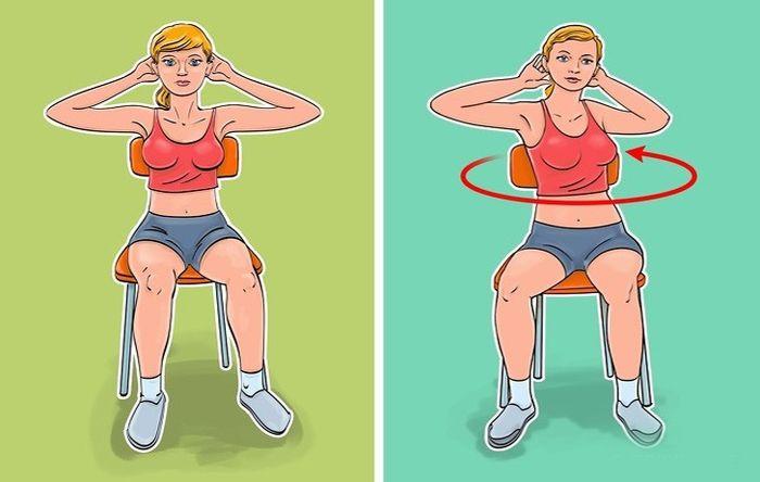 'Ngồi một chỗ' vẫn giúp mỡ bụng giảm 'ào ào' bằng 7 bài tập với ghế - Ảnh 3