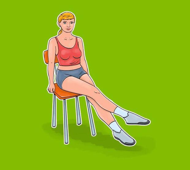 'Ngồi một chỗ' vẫn giúp mỡ bụng giảm 'ào ào' bằng 7 bài tập với ghế - Ảnh 7