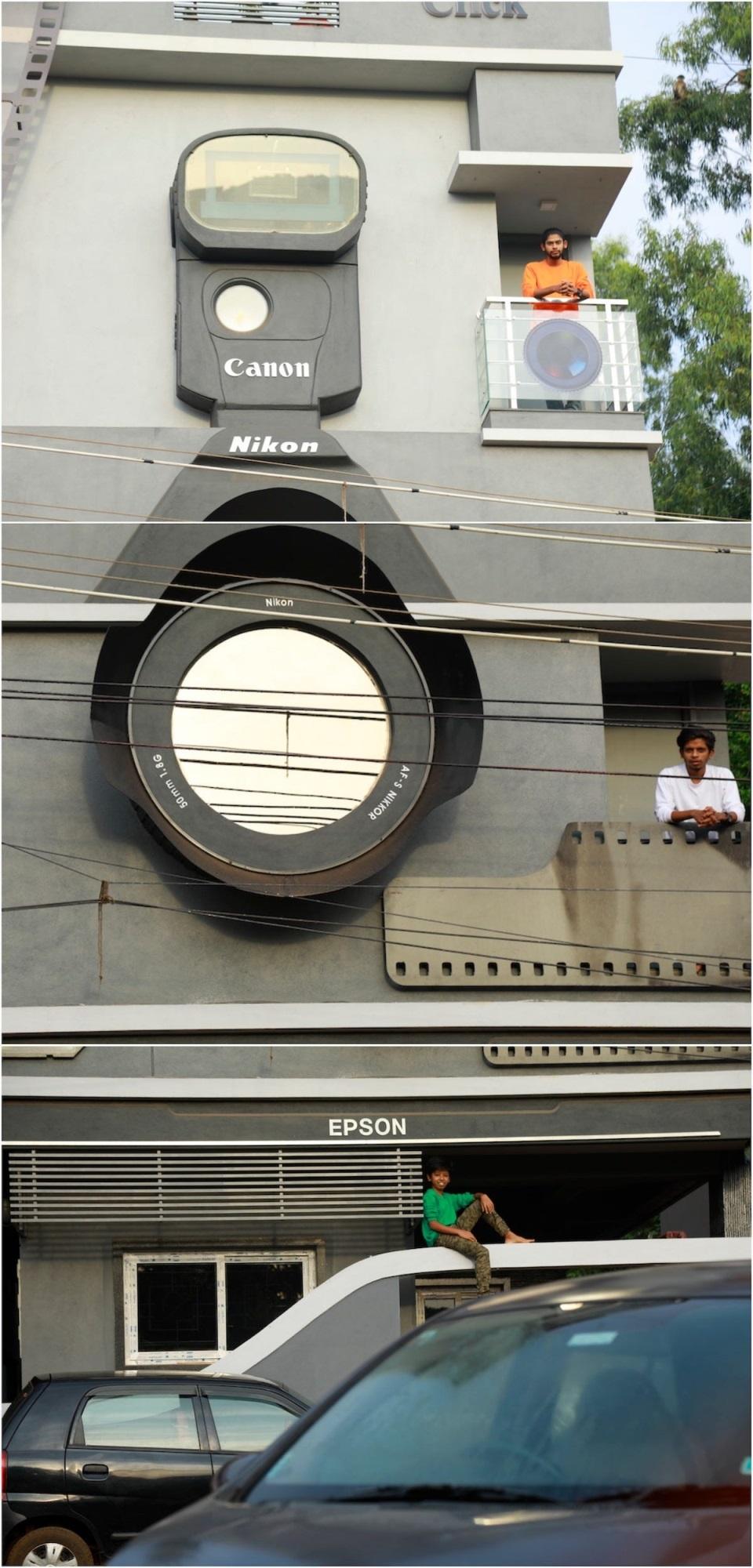 Chiêm ngưỡng ngôi nhà hình chiếc máy ảnh độc đáo ở Ấn Độ - Ảnh 4