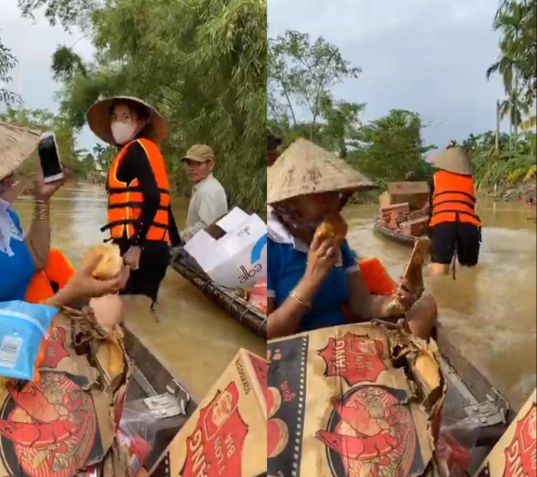 Loạt ảnh Thủy Tiên lội nước trao tận tay người dân miền Trung những món quà cứu trợ gây xúc động mạnh, số tiền quyên góp đã lên đến 22 tỷ đồng - Ảnh 10