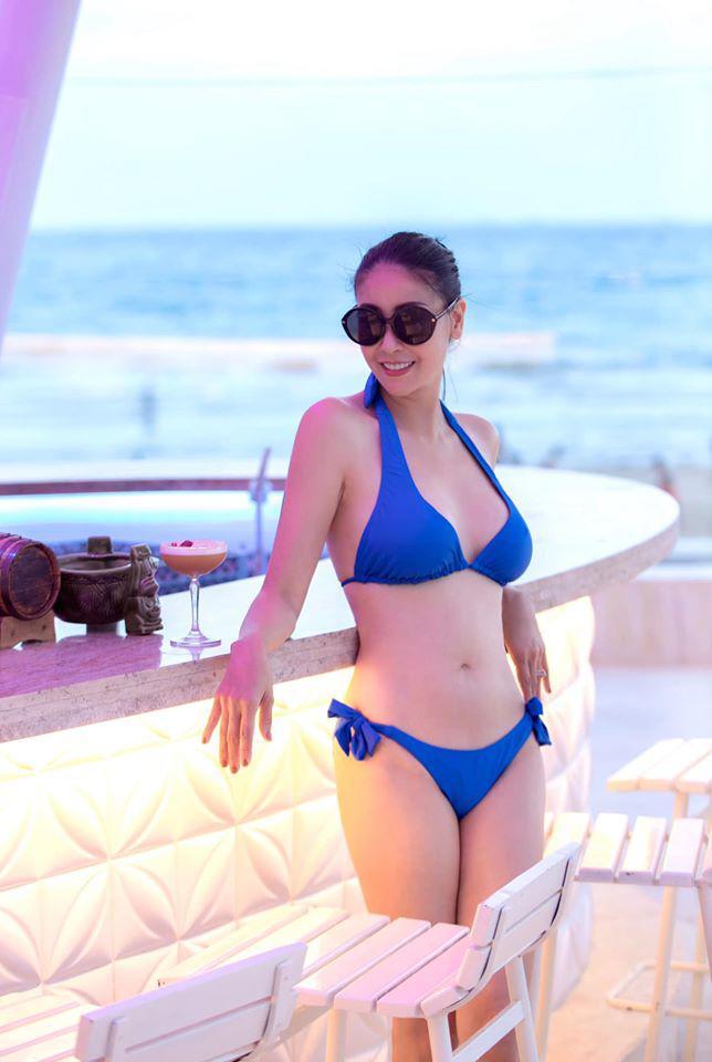 Lấy chồng tỷ phú, Hoa hậu Việt Nam 1992 tuổi 39 mang bầu lần 3, một năm mới về dáng - Ảnh 6