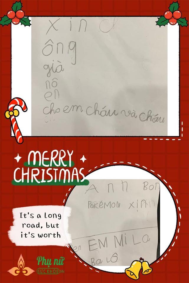 Cười vỡ bụng những bức thư 'bá đạo' hội nhóc tì gửi ông già Noel xin quà  - Ảnh 2