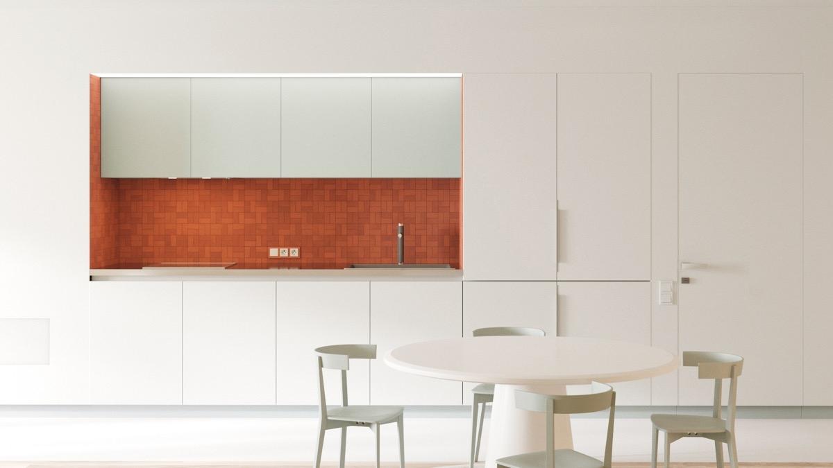 Tham khảo các thiết kế nhà bếp 'chơi trội' với màu 'nóng' - Ảnh 4