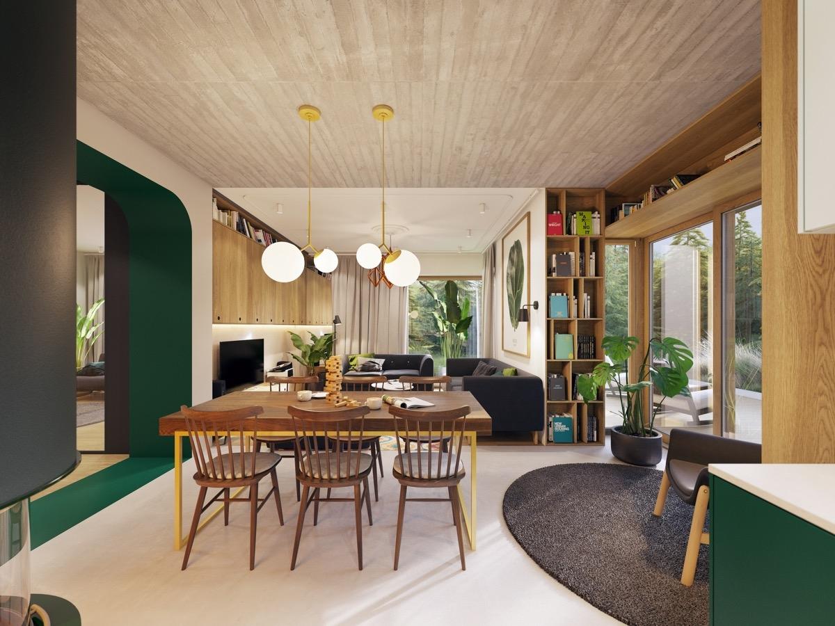 Tham khảo các thiết kế phòng ăn gắn liền với phòng khách tinh tế đến không ngờ - Ảnh 5