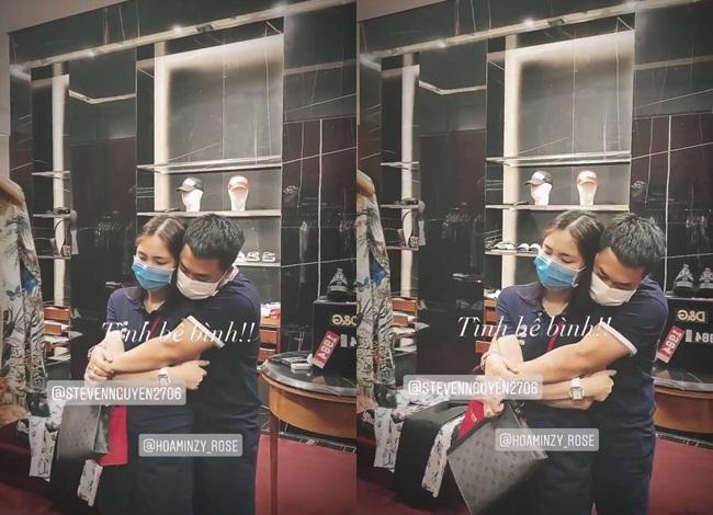 Người tình thiếu gia ôm Hòa Minzy chặt cứng trong cửa hàng thời trang - Ảnh 2