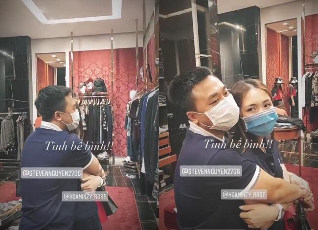 Người tình thiếu gia ôm Hòa Minzy chặt cứng trong cửa hàng thời trang - Ảnh 3