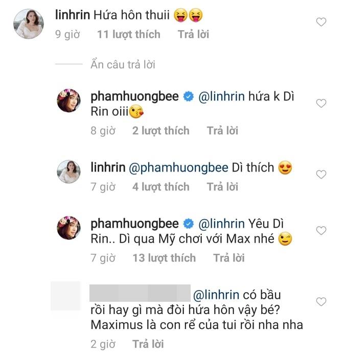 Hoa hậu Phạm Hương được em dâu tương lai của Hà Tăng xin làm thông gia - Ảnh 2
