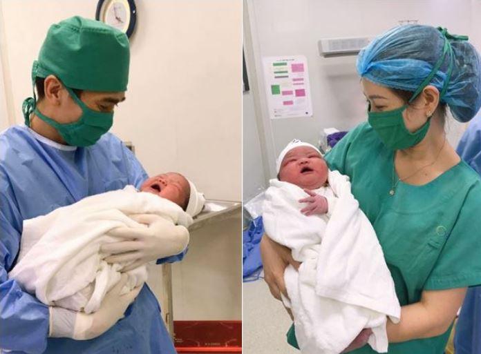 3 em bé sơ sinh có cân nặng khủng, vừa chào đời nhìn đã 'cưng muốn xỉu' - Ảnh 1
