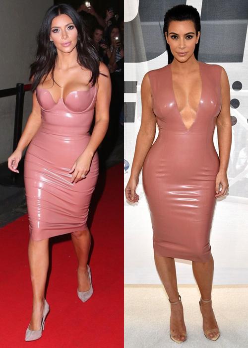 Kim 'siêu vòng ba' mặc đi mặc lại đồ chật căng - Ảnh 7