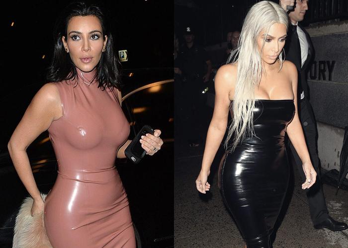 Kim 'siêu vòng ba' mặc đi mặc lại đồ chật căng - Ảnh 8