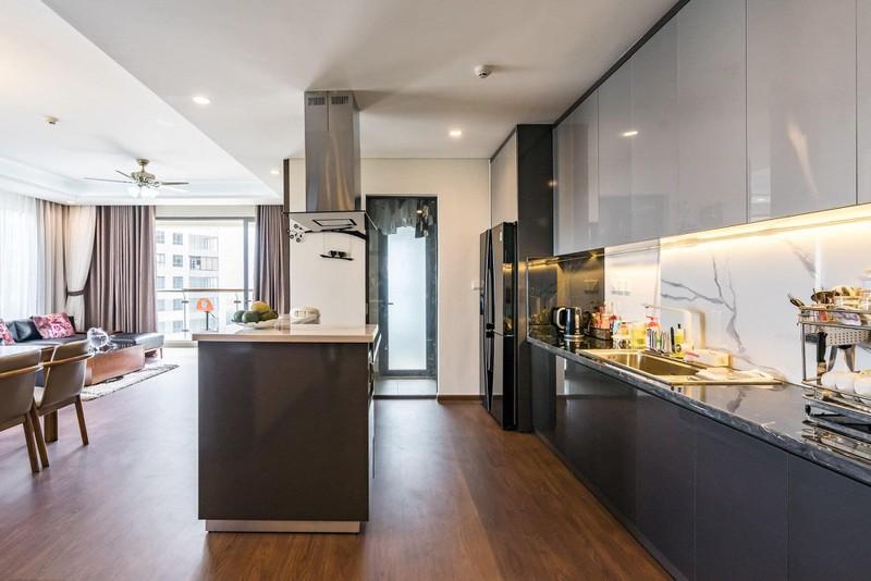 Căn hộ chung cư tông màu xám bền đẹp theo thời gian - Ảnh 5