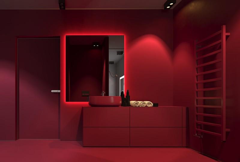 Ngạc nhiên trước những căn phòng tắm màu đỏ, nhìn một lần là nhớ - Ảnh 2