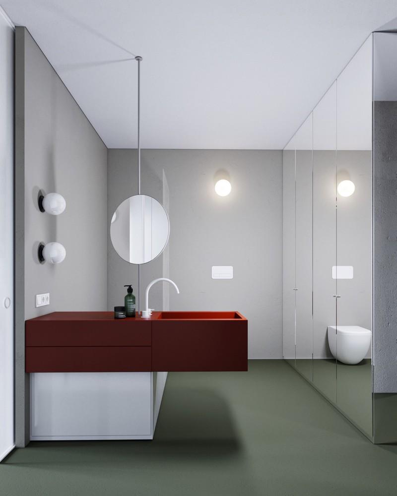 Ngạc nhiên trước những căn phòng tắm màu đỏ, nhìn một lần là nhớ - Ảnh 11
