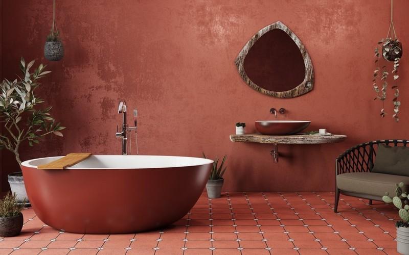 Ngạc nhiên trước những căn phòng tắm màu đỏ, nhìn một lần là nhớ - Ảnh 12