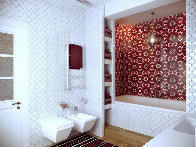 Ngạc nhiên trước những căn phòng tắm màu đỏ, nhìn một lần là nhớ - Ảnh 3