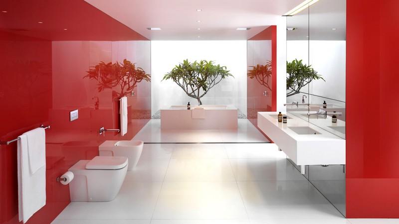 Ngạc nhiên trước những căn phòng tắm màu đỏ, nhìn một lần là nhớ - Ảnh 4