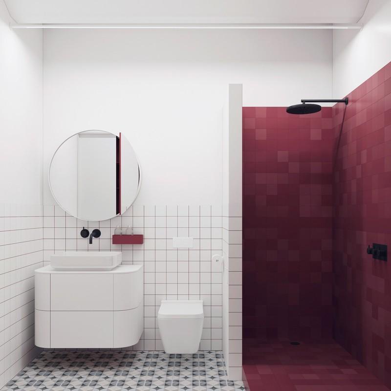 Ngạc nhiên trước những căn phòng tắm màu đỏ, nhìn một lần là nhớ - Ảnh 5