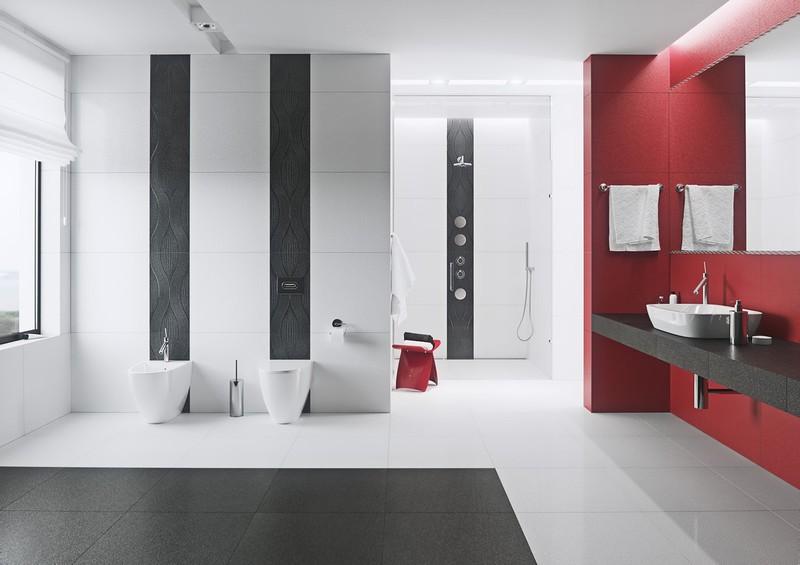 Ngạc nhiên trước những căn phòng tắm màu đỏ, nhìn một lần là nhớ - Ảnh 6