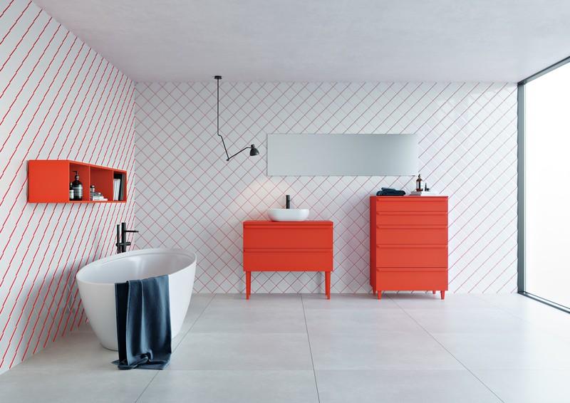 Ngạc nhiên trước những căn phòng tắm màu đỏ, nhìn một lần là nhớ - Ảnh 7