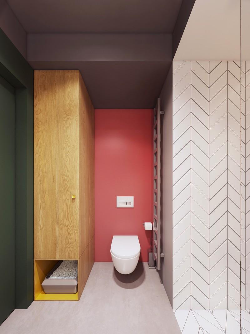 Ngạc nhiên trước những căn phòng tắm màu đỏ, nhìn một lần là nhớ - Ảnh 10