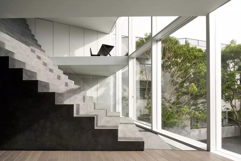 Ngôi nhà ấn tượng với cầu thang xuyên từ ngoài vào trong - Ảnh 3