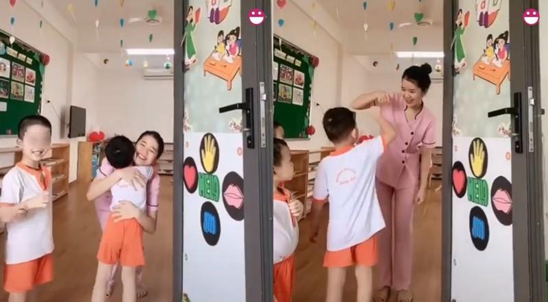 Cô giáo mầm non xinh đẹp chào buổi sáng khiến các bố nháo nhào muốn xếp hàng 'bấm nút hồng' - Ảnh 1