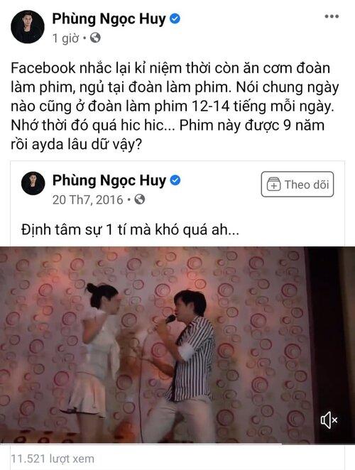 Phùng Ngọc Huy chia sẻ đoạn phim 9 năm trước, đáng chú ý là phần hát ca khúc từng có MV fanmade với Mai Phương - Ảnh 1