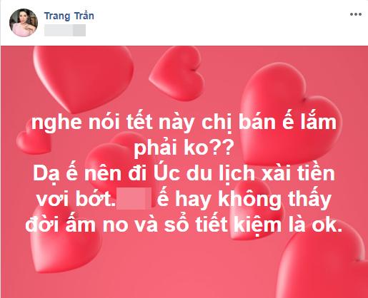 Dọn nhà đón Tết giúp Trang Trần, người thân 'tiện tay' vứt luôn xấp tiền dày cộp - Ảnh 2