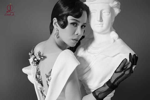 Hoa hậu Oanh Lê tung bộ ảnh đẹp từng centimet nhưng đôi mắt mới là điểm nhấn ấn tượng - Ảnh 8