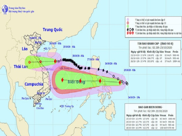 Bão Molave đang di chuyển nhanh vào Biển Đông, có thể mạnh cấp 12-13 khi gần bờ - Ảnh 1