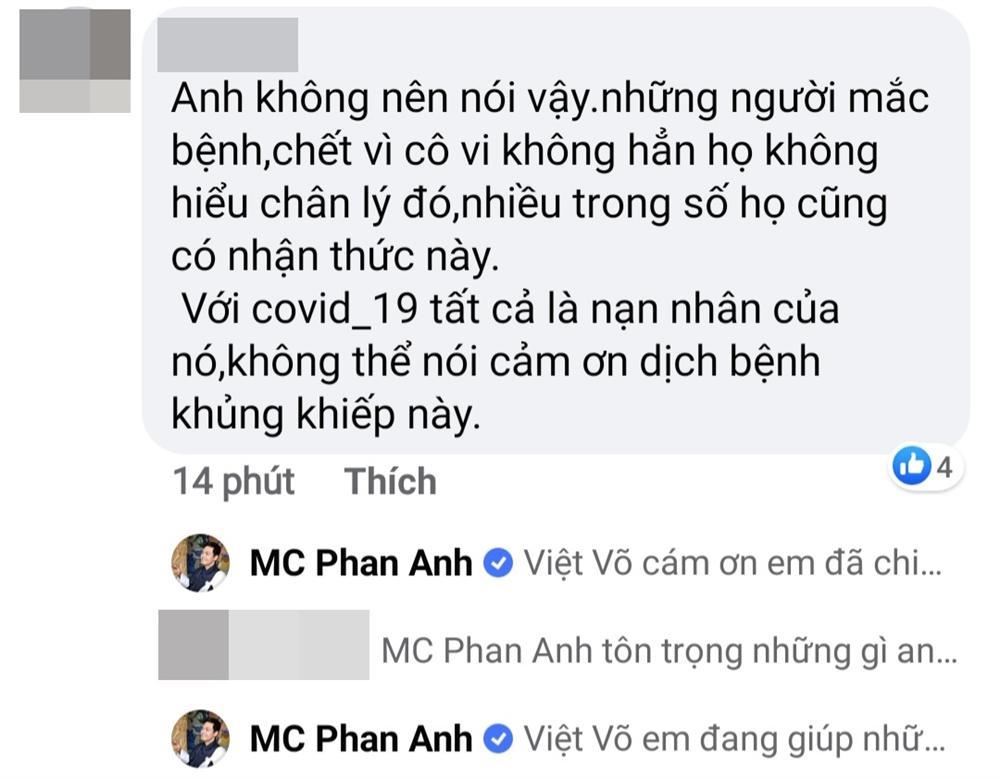 MC Phan Anh gây tranh cãi khi viết status 'cảm ơn đại dịch Covid-19' - Ảnh 2