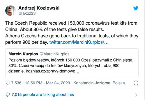 Séc phát hiện 80% dụng cụ xét nghiệm nhanh COVID-19 của Trung Quốc cho kết quả sai - Ảnh 1