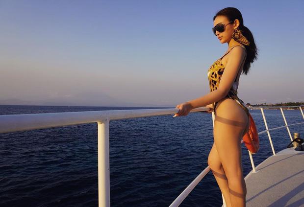 Gái chưa chồng cũng phải nhường đường cho Huyền Baby trên 'đường đua bikini', thân hình bỏng mắt, không một chút mỡ thừa - Ảnh 5