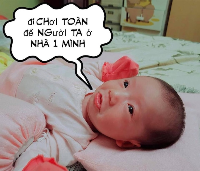 Con gái JustaTee ngày càng 'mặn mà' đáng yêu, không hổ danh 'em bé vàng trong làng meme' - Ảnh 3