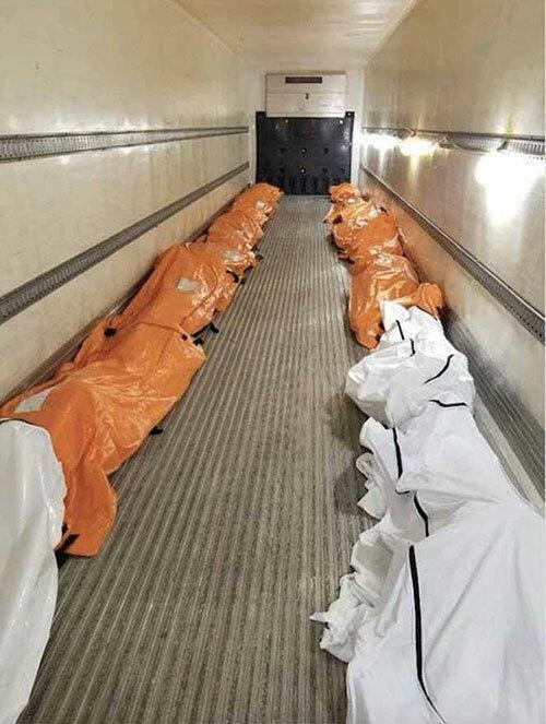Thi thể bệnh nhân Covid-19 Mỹ chất đầy các xe đông lạnh  - Ảnh 1