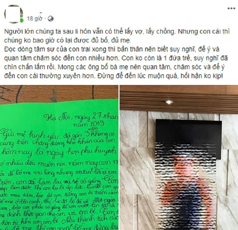 Xúc động bức thư của cậu bé lớp 5 có bố mẹ ly hôn: 'Con tưởng con bị trầm cảm khi không có bố mẹ ở bên' - Ảnh 2