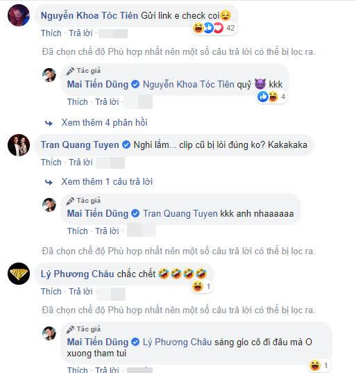 Mai Tiến Dũng bị nghi ngờ lộ clip nóng, Tóc Tiên công khai vào xin link - Ảnh 2