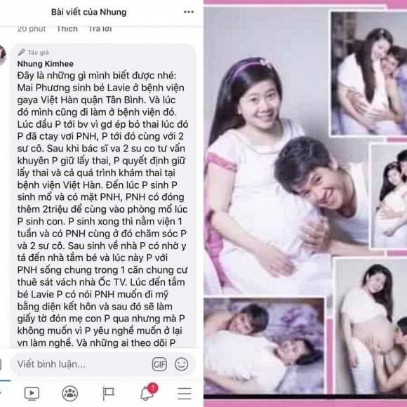 Dân mạng xót xa hình ảnh hạnh phúc hiếm hoi của Mai Phương khi mang bầu bên Phùng Ngọc Huy - Ảnh 1