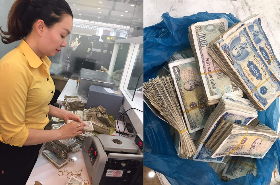 Câu chuyện đôi vợ chồng già ở Quảng Bình chở bao tải tiền gửi tiết kiệm gây sốt cộng đồng mạng - Ảnh 2