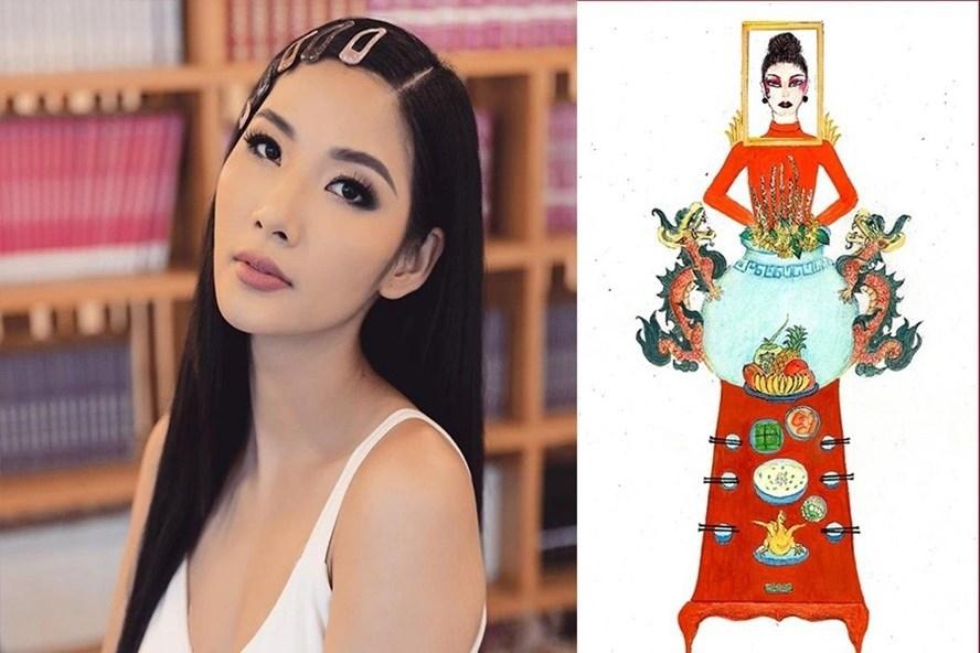 Bản thiết kế trang phục dân tộc '7 miếng đất' cho Khánh Vân thi Miss Universe 2020 gây tranh cãi - Ảnh 7